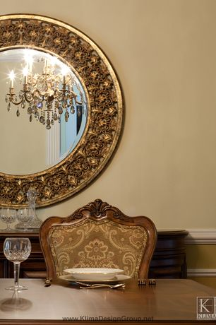 Traditional Dining Room with Bonnin Ashley Antiques Inc Set of Six French 19th Century Louis XV Style Dining Chairs
