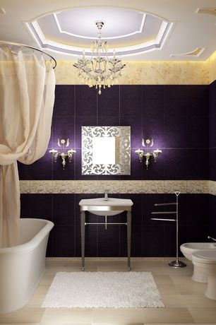Traditional Full Bathroom with KOHLER K-2526-F64 Persuade Console Table in Shale, Chandelier, High ceiling, Master bathroom