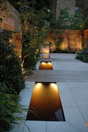 Contemporary Landscape/Yard with Underwater Light Pond Lighting for Low Voltage Landscape Lighting