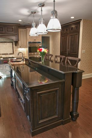 Traditional Kitchen with Raised panel, full backsplash, Ogee edge countertop, electric cooktop, Undermount sink, Flush, Paint