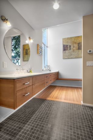 Contemporary Master Bathroom with Simple marble counters, Undermount sink, Simple Marble, Master bathroom, Double sink, Flush