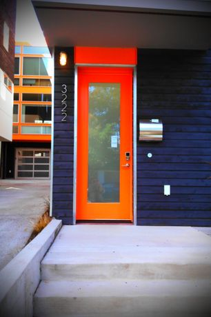 Contemporary Front Door with French doors