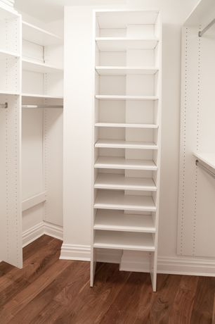 Traditional Closet with Bruce Gunstock Oak 3/4 in. Thick x 2-1/4 in. Wide x Random Length Solid Hardwood Flooring
