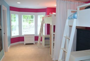 Contemporary Kids Bedroom with Maxwood furniture jackpot high twin loft bed with angle ladder, Paint 2, Paint 1