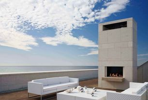 Contemporary Deck with Outdoor wicker furniture, Gorlin Architects Southhampton Beach House, African hardwood