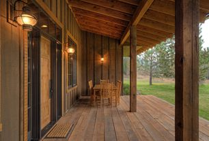 Country Porch with Wrap around porch, Transom window