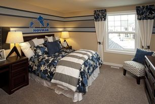 Traditional Kids Bedroom with Standard height, no bedroom feature, Carpet, double-hung window