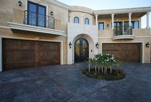 Mediterranean Garage with Stucco, Concrete
