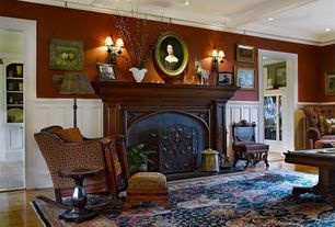 Traditional Living Room with Safavieh Persian Legend Black/Rust Area Rug, Paint 1, Box ceiling, Wall sconce, other fireplace