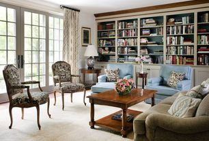 Traditional Living Room with Standard height, Coast to Coast Imports Accent Arm Chair in Brown, Paint, French doors