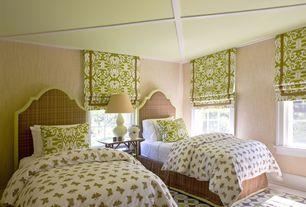 Contemporary Guest Bedroom with interior wallpaper, York Wallcoverings 57.75 sq. ft. Weathered Finishes Grasscloth Wallpaper