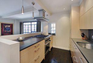 "Contemporary Kitchen with Schwinn hardware 5.04"" bar pull, Corian Deep Nocturne Solid Surface"