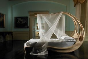 Contemporary Master Bedroom with Enignum Canopy Bed by Joseph Walsh