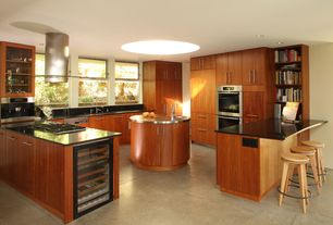Contemporary Kitchen with Paint, Model-Granite Solid Surface Countertop in Deep Nocturne
