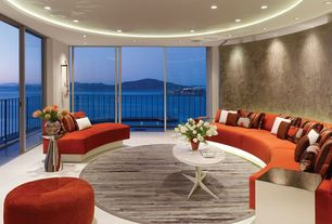 Modern Living Room with Concrete tile