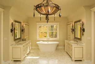 Traditional Master Bathroom with PIEDMONT PEDESTAL SOAKING TUB AND TUB FILL WITH HANDHELD SHOWER