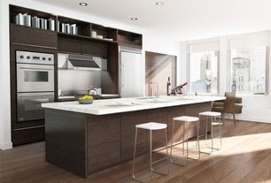 "Contemporary Kitchen with Corian Whipped Cream, Edge 32"" Bar Stool by dCOR design"