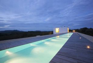 Contemporary Swimming Pool with Lap pool, picture window