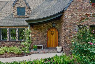 Traditional Front Door with Pathway, exterior brick floors
