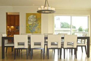 Contemporary Dining Room with Hamshire Hand-finished 60-inch Acacia Wood Dining Table