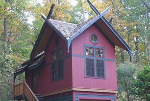 Eclectic Exterior of Home with Paint 1, Paint 2, Paint