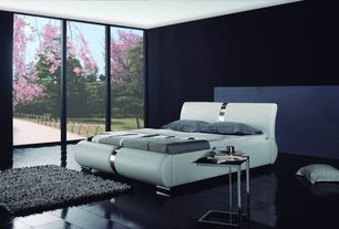 Modern Master Bedroom with Moe's Home Collection Posta End Table, Urban loft shag area rug