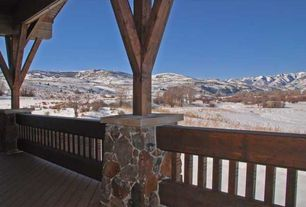 Country Deck with Deck Railing