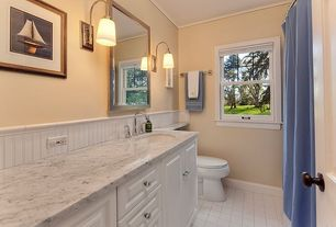 Traditional Kids Bathroom with Shades of Light Well Appointed Bath Light - 1 Lt., Undermount sink, Inset cabinets, Paint 1