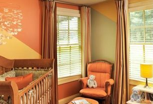 Modern Kids Bedroom with Threshold Basketweave Curtain Panel, Custom Crib Bedding by Carousel Designs