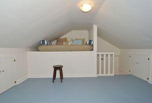 Contemporary Attic with Carpet, flush light, Standard height