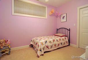Country Kids Bedroom with no bedroom feature, six panel door, Standard height, Carpet
