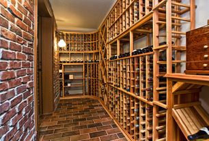 Rustic Wine Cellar with interior brick, Wall sconce