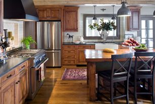 Cottage Kitchen with Custom hood, M Teixeira Soapstone Mumbai Gray Soapstone Countertops, L-shaped, Soapstone counters