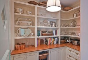 Traditional Pantry with Liberty Design Facets 1-3/16 in. Victorian Glass Cabinet Hardware Knob, Pendant light