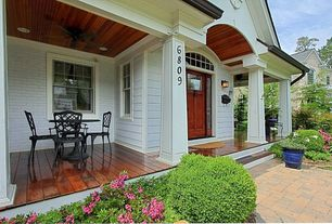 Traditional Porch with Casement, Glass panel door, picture window, Wrap around porch, double-hung window, Transom window