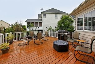 Traditional Deck with specialty window, Casement, Deck Railing, Outdoor kitchen