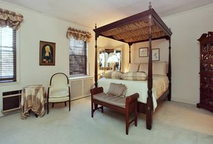 Traditional Guest Bedroom with Furniture maxx solid wood settee cushion bench with arm, Standard height, Crown molding