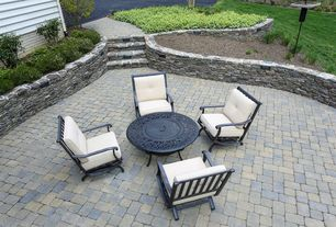 Traditional Patio with Pathway, exterior brick floors