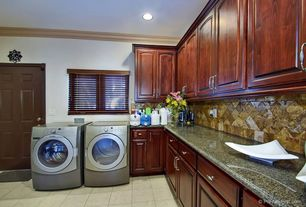 Traditional Laundry Room with Undermount sink, Concrete tile