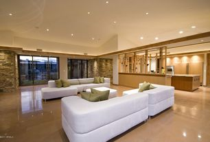 Contemporary Living Room with Concrete floors