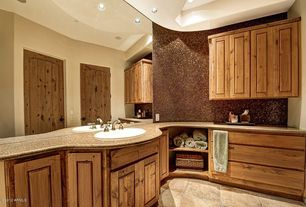 Rustic Master Bathroom with Century Cabinet Doors, Squared Raised Panel by Cabinet Now, Raised panel, Vinyl floors