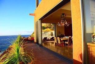 Mediterranean Patio with exterior tile floors, Screened porch, exterior terracotta tile floors