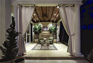 Traditional Porch with Screened porch, exterior tile floors