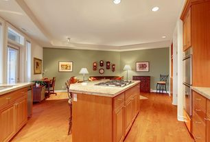 "Traditional Kitchen with Wildon home  24"" bar stool with cushion, Simple granite counters, French doors, Transom window"