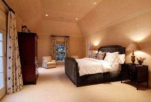 Traditional Guest Bedroom with Hillsdale Furniture Carlyle Pewter King Complete Bed, High ceiling, Crown molding, Carpet