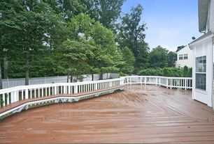 Traditional Deck with Fence, Deck Railing, Casement