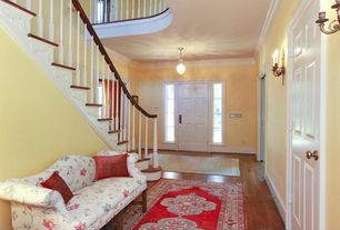 Traditional Entryway with Pendant light, Crown molding, High ceiling, Carpet, Laminate floors, Loft, Wall sconce