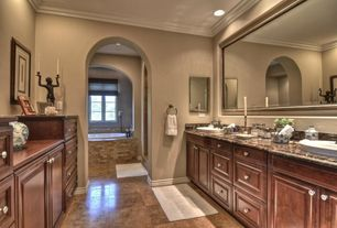 Traditional Master Bathroom with Master bathroom, Double sink, Raised panel, Kitchen Craft, Cambridge Door Style, Frameless
