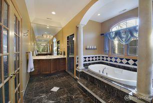 Traditional Master Bathroom with Corian counters, Columns, Master bathroom, Way Basics Way Basics Eco Floating Shelf