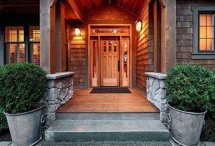 Rustic Front Door with Estate zinc ring round, Casement, Transom window, Simpson craftsman three panel exterior door (6863)